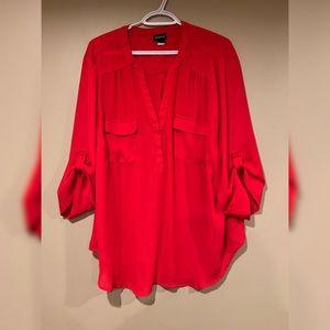 Torrid Red Georgette Blouse